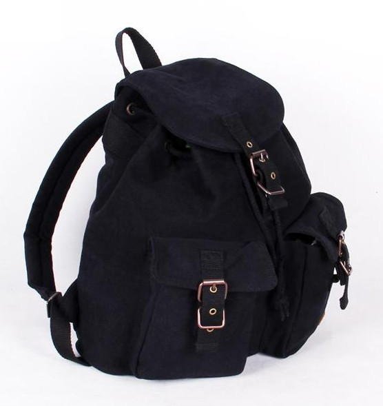 ... black Vintage canvas backpacks women ... 273095a122b05