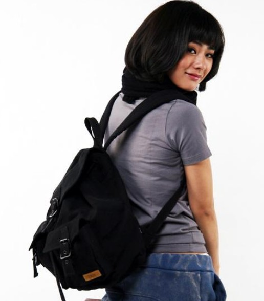 ... black Vintage canvas backpacks women  black women s everyday backpack  purse ... 902e873b7f88e