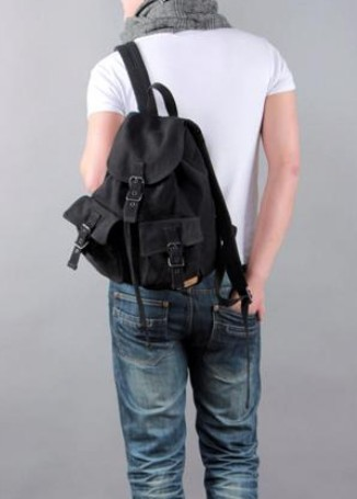 ... black canvas backpacks women 8950ff40f5abc