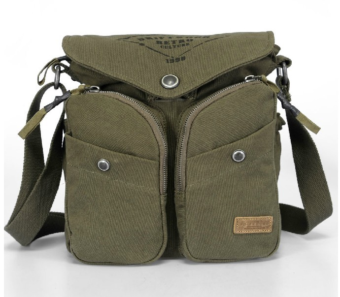 9e596bfb7f ... retro college messenger bags  army green IPAD classic messenger bag ...