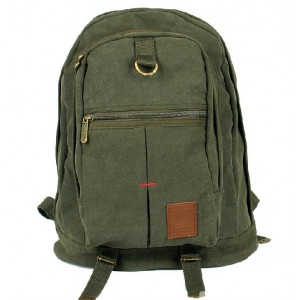 Canvas backpack, travel rucksack